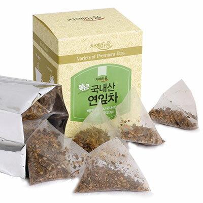 『チャイェマウル』炒めたハスの葉茶|蓮葉茶(1g×20包・ティーバッグ)ダイエット茶 健康茶 韓国茶 韓国飲料 韓国飲み物 韓国食品\ほのかに甘みを感じる草のよい香りの茶/マラソン ポイントアップ祭 スーパーセール