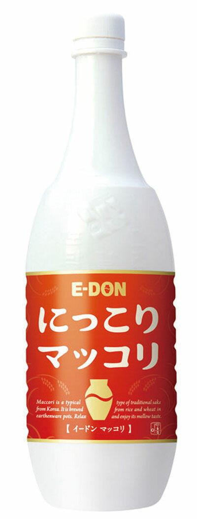 『二東』 にっこりマッコリ (1000ml・PET) E-DON イドン お酒 米酒 発酵酒 伝統酒 韓国酒 韓国食品 マラソン ポイントアップ祭