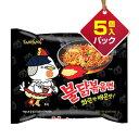 【期間限定SALE 16%OFF】『三養』ブルダック炒め麺 火鶏炒め麺 激辛口 (5個入りパック)■