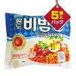 『Paldo』ビビン麺(5個入りパック)■1個当り114円[パルド][韓国ラーメン][インスタントラーメン] 20P27May16