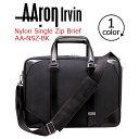 ショッピングRONI AAron Irvin アーロン・アーヴィン ビジネスバッグ ナイロンシングルジップブリーフケース バッグ かばん 送料無料 メンズ 通勤 おしゃれ 人気 NSZ