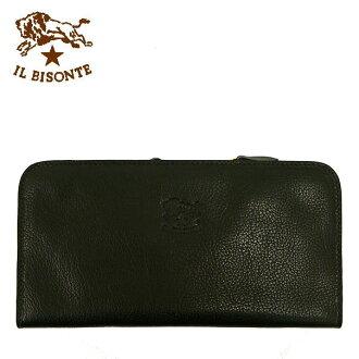 IL BISONTE zip long wallet C792 135: black [fs04gm]