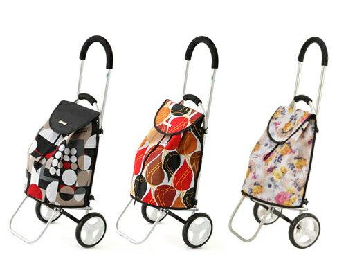 ショッピングカー Mitty(ミティー) SC-02-DBR、SC-02-MRE 美和商事ショッピングカート おしゃれ 手押し車 キャリーカート 介護 高齢者 旅行 買い物バッグ