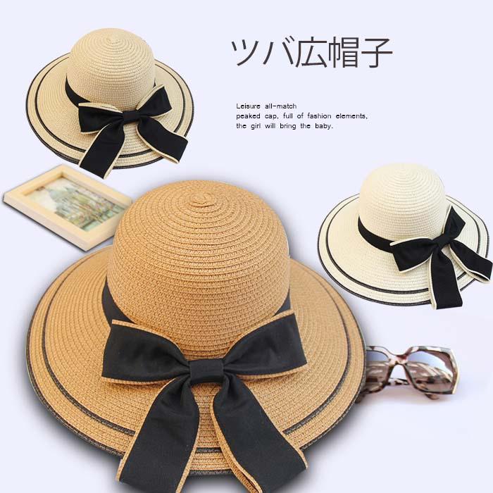 レディース 帽子 ストローハット 麦わら帽子 UV カット つば広 ハット 紫外線対策 UVハット 夏 つば広帽子 大きいサイズ 小顔効果 日よけ帽子 旅行 オシャレ 母の日 蝶結び リボン ベージュ ブラウン オフホワイト