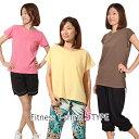 レディース スポーツウェア フィットネス トレーニング ジョギング マラソン ランニングウェア Tシャツ フィットネスTee