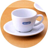 De'Longhi标志卡布奇诺咖啡茶杯 由于家庭,咖啡漂亮的 卡布奇诺咖啡茶杯De'Longhi?标志卡布奇诺咖啡茶杯&碟子?玫瑰1套[デロンギ・ロゴ入りカプチーノカップ&ソーサー・バラ1客]