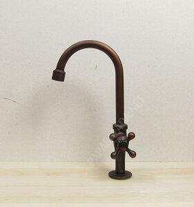 【送料無料♪】レトロ 蛇口 グースネック(ブロンズ 手洗い鉢 手洗い器用の水栓金具【05P05Nov16】