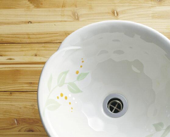 【送料無料♪】手洗器【美濃焼手洗鉢】あさつゆ(Large,φ380)|和モダンの洗面ボウル【P11Sep16】 美濃焼の手洗器。和モダンの洗面ボウル