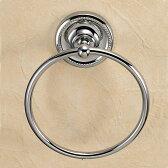 おしゃれな真鍮製タオル掛け・タオルリングL(ヴィクトリアン・クロム)|アンティーク調シルバー色【P11Sep16】