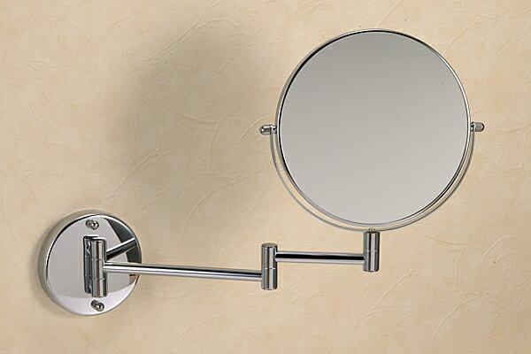 【送料無料♪】真鍮製スイングミラー(スタンダード・クロム)|レトロ調シルバー色【05P05Nov16】