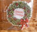 USA Carol Wilson キャロルウィルソン クリスマス ギフトタグ 6枚セット 袋入り リース Christmas Wreath