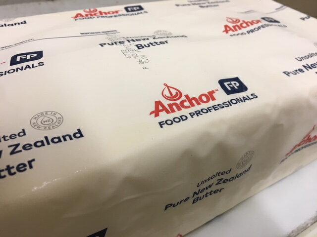 ニュージーランド産 グラスフェッドバター 賞味期限2020.2.8フォンテラ社製 アンカーバター 5kg【冷凍】