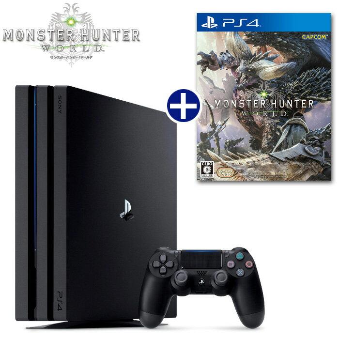 【新品】【PS4】 モンスターハンター:ワールド ソフト+ PlayStation4 Pro 本体 セット [PLJM-16110][モンスターハンターワールド] [プレイステーション4 プロ][CUH-7100]