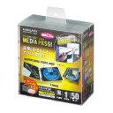 コクヨ (EDC-CMT1-50D) CD/DVD用ソフトケース MEDIA PASS 高透明 1枚収容 50枚セット 黒 CDケース/DVDケース ☆