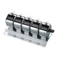 コクヨ (CL-205) 数取器 5連式 外寸法W150・D70・H67 数取機 カウンター☆