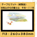 紙製品 テーブルマット 尺3 甘利山からの富士山 No.273 (100枚)【使い捨て ランチョンマット 季節 雲竜 和紙】