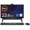 Dell フレームレスデスクトップパソコン Inspiron 24 5400 ブラック Win10/23.8FHD/Core i7-1165G7/8GB/512GB+1TB/Webカメラ/無線LAN AI577A-AWLB