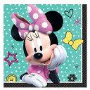 ディズニー ミニーマウス 紙ナプキン 16枚セット ビバレッジ ペーパーナプキン アムスキャン