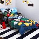 【決算セール割引商品】CrownCrafts ディズニー ミッキーマウス 子供 寝具 4点 セット 子供用布団 子供用寝具 トドラーベッディング