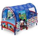 【P2倍・10/20限定+クーポン有】デルタ ディズニー ミッキーマウス テント付き 子供用ベッド 2歳から Delta