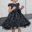 クリアランスSALE/ 子供ドレス 女の子 ブラック 100-160cm フォーマル アドリアーノ