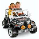 フィッシャープライス Jeepジープラングラートーキング乗用玩具2人乗りバッテリーカー (PowerWheelsToughTalkingJeepWrangler...