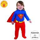 ルービーズ スーパーマン ロンパース ハロウィン コスチューム コスプレ 男の子 女の子 60-80cm 衣装 子供 Rubies 887601