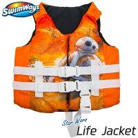 子供用 ライフジャケット ディズニー スターウォーズ BB8 3歳から アメリカ沿岸警備隊公認 キッズ ライフベスト キャラクター SwimWaysの画像