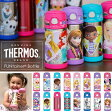 THERMOS サーモス ディズニー ステンレス ストロー マグ (女の子) 水筒 子供用 プリンセス ミニー バービー ソフィア
