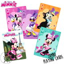 DM便対応/ ディズニー ミニーマウス ジャンボサイズ トランプ カードゲーム 12x8cm