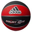 adidas(アディダス) AB6122RBK コートサイド 6号球 ジュニア レディース バスケットボール レッド×ブラック