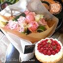 【花とスイーツ】お誕生日の花束Mサイズ No.M03と洋菓子...