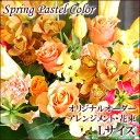 【花 アレンジメント 配達日指定可】花 ギフト オーダーアレンジメント・花束 Lサイズ 【春の花 誕