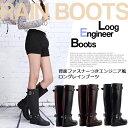 【即納】レディースレインブーツ/ロングレインブーツ/エンジニ...