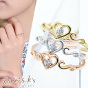 楽天私の毎日アクセサリー paris k's指輪 リング ハート キュービック CZ キラキラ 可愛い ゴールド シルバー ピンクゴールド 女の子 ファッション 可愛い 女性 雑貨 かわいい おしゃれ プチプラ プレゼント ギフト パリスキッズ 送料無料 j3s