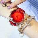 GUOU 腕時計 レディース 女性用 ウォ�