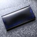 ◆長財布◆製品にしてから職人が手磨きで焦茶のグラデーションをつける為丹念に磨き上げています。〔革工房パーリィー メイドインジャパン メーカー直販〕
