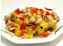 黒酢入り鶏肉と野菜のピーナツ炒め