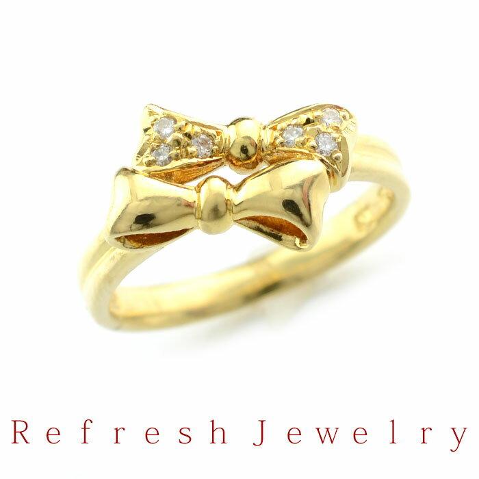 【リフレッシュジュエリー】K18 ダイヤモンドリング 360【12号】【】【送料無料】【ジュエリー】【リング】【指輪】【リサイクルジュエリー】 リフレッシュジュエリー ダイヤ リング アクセサリー ダイヤモンド  K18  指輪 ゴールド
