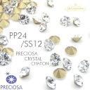 【1袋1440個】PRECIOSA CHATON CRYSTAL SS12/PP24プレシオサ社製チャトンVカットガラスルース クリスタルストーン SS12/PP24 石 GOLD F..