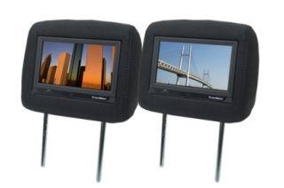 DreamMaker 7インチヘッドレストモニター(ファブリック ダークグレー)です。