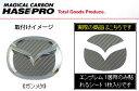 ハセプロ マジカルカーボン ステアリングエンブレムシート ガンメタ SE3P RX-8(2008/3〜)