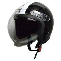 モトボワット ヘルメット スモール ジェット シールド ブラック ホワイト