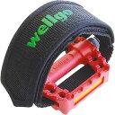 wellgo(ウェルゴ) W-8 ペダルストラップ ブラック 1ペア メーカー品番:W-8【あす楽対応】