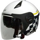 FS RN-999W ルノー Wシールドジェットヘルメット ホワイト 1個単位 RN-999W (バイク・ヘルメットFS)