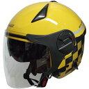 FS RN-999W ルノー Wシールドジェットヘルメット イエロー 1個単位 RN-999W (バイク・ヘルメットFS)