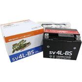 スーパーバリュー バイクバッテリー SV4L-BS (YT4L-BS 互換)液入り充電済み 1個 365日メーカー保障付 【あす楽対応】