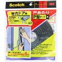 3M 室内ドア用 戸あたりP型テープ メーカー品番:EN-52 1袋(2本入)