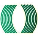 Optimum(オプティマム) リムステッカー 12インチ用 グリーン 適合車種:12インチホイール車【あす楽対応】