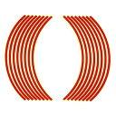 【エントリーでP10倍】ホイール・リム/アクスル リムステッカー 17インチ用 レッド Optimum(オプティマム)